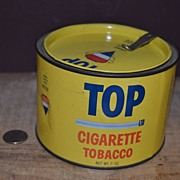 "SALE Vintage 'Top"" Cigarette Tobacco Tin"