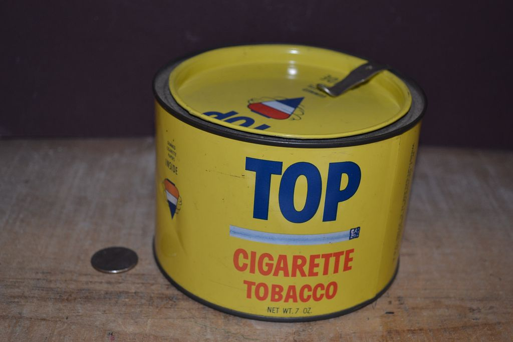 "Vintage 'Top"" Cigarette Tobacco Tin"