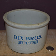 SALE Dix Brothers Butter Crock