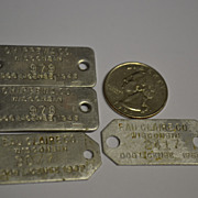 "SALE Four ""4"" Aluminum Wisconsin Dog License Tags."