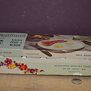 SALE 1950's Highland Eggs Carton  by Associated Grocers Co of St. Louis MO.