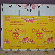 SALE 1950's Good Morning Double Half Dozen Egg Carton