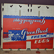 SALE Vintage Green Brook Dividable Egg Carton in Red