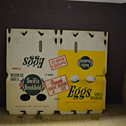 SALE Vintage Swift's Brookfield Egg Carton in Yellow