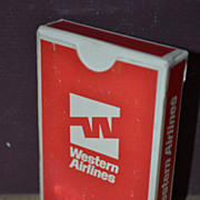 SALE Complete Set of Western Airlines Playing Cards