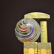 SALE Hand Blown German Divided Ribbon Core Swirl Marble