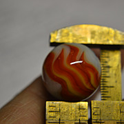 SALE Christensen Agate 3 Finger 2 Color Flame Marble