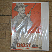 SALE Vintage Daisy Air Rifle Ad with Boy Holding the Gun