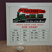 SALE The Railroad Line Sock Size Chart for a Store Display