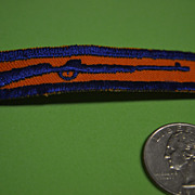 SALE Military Rifle Patch in Orange and Blue