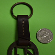 SALE Marlboro Keychain of Leather and Brass