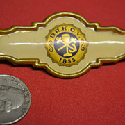 SALE 1855 Celluloid D.R.K.C.V. Pin