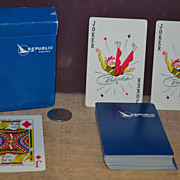 SALE Republic Airlines Playing Cards in Box Complete