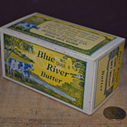 SALE Blue River 1lb Butter Box by Borden Foods Co Richland, Wisconsin