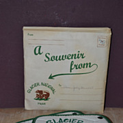 Pair of 1959 Glacier National Park Souvineer Pot Holders in Envelope