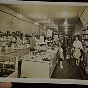 SALE Black and White Photo of Interior of a Gift Store with Red Wing Pottery
