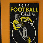 SALE 1938 College Football Schedule Compliments of Walgreen Drugs