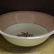 Norway Rose Round Vegetable Bowl by Cunningham and Pickett Inc.
