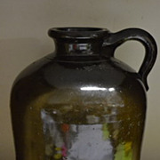 Unmarked Wide Mouth 1 Gallon Brown Stoneware Jug