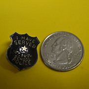 St. Paul School Police Screwback Pin
