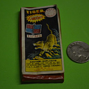 Vintage 12 Pack of Tiger Firecrackers