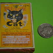 SALE PENDING Vintage Black Cat Flashlight Crackers