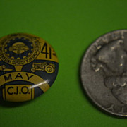 1941 International Union United Auto Workers America Button.