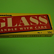 Dennison 'Glass' Caution Labels Box