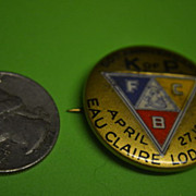 April 1936 Knights of Pythias (Odd Fellow) 50th Anniversary Pin