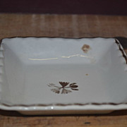 SALE PENDING Powell & Bishop Ironstone Low Square Relish Bowl