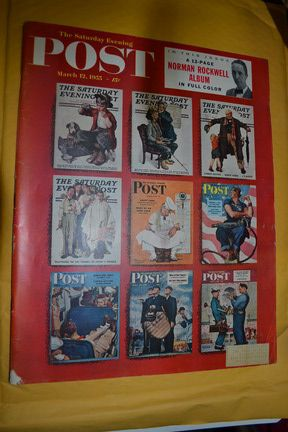 March 12 1955 Post Magazine Featuring 9 Norman Rockwell Covers
