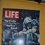 December 13 1968 Life Magazine with Football Cover.