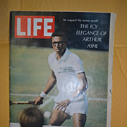 September 20 1968 Life Magazine with Tennis Star Arthur Ashe