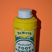 DeWitt's Medicated Foot Powder Tin