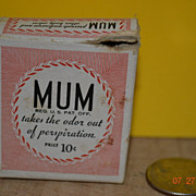 MUM Box  &quot;takes the odor out of perspiration&quot;