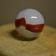 Akro Agate Silver Oxblood Marble