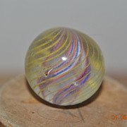 Hand Made German Divided Ribbon Core Swirl Marble