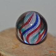 Hand Made Latticinio Core Swirl Marble