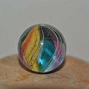 Hand Made German Polished Ribbon Core Swirl Marble