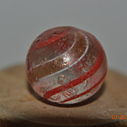 Hand Made German Clear Swirl Lutz Marble