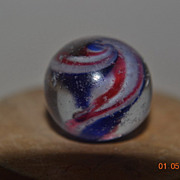 German Handmade Ribbon Core Swirl Marble