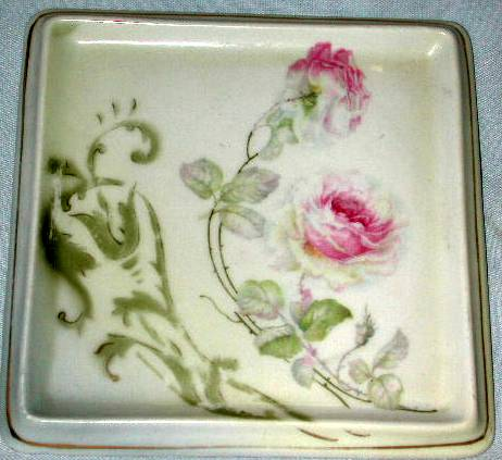 German Hand Painted Tea Tile