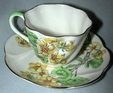 'Geranium' Salisbury English Cup and Saucer