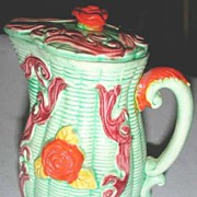 Japanese Majolica Batter Pitcher
