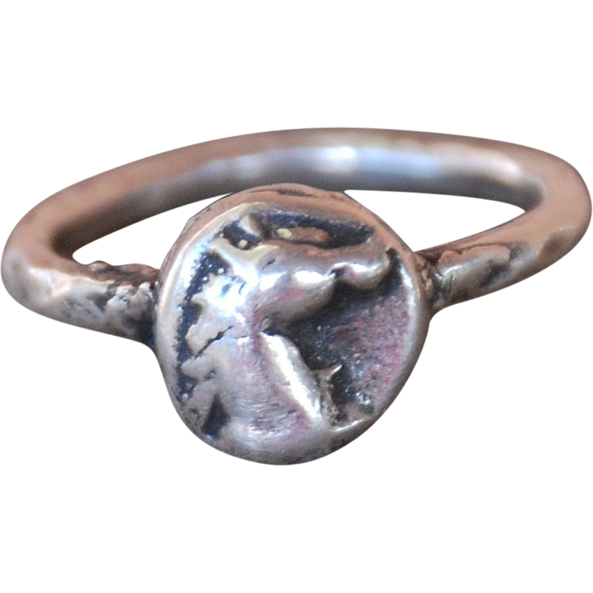 Fine Silver Little Horse Menagerie Stacking Ring