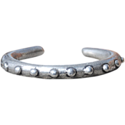 Hand Made Fine Silver Dotted Bangle