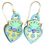 SALE Chimayo Sacred heart Earrings