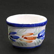 "HB Quimper Faience  ""Fleuri Royal""  Open Salt Cellar"