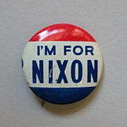 """I'm for Nixon"" 1960 Richard Nixon Presidential Campaign Button"