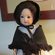 REDUCED DOLL,Porcelain/Bisque  Amish Dress, Adorable, Marked, Mein Liebling Collection